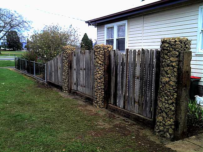 Recycled Garden Fence A Green Tasmanian Renovation